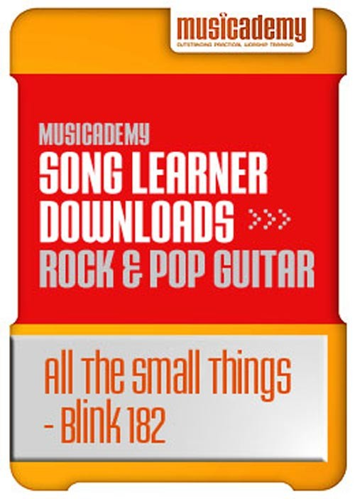 All The Small Things Blink 182 Guitar chords & video online lesson