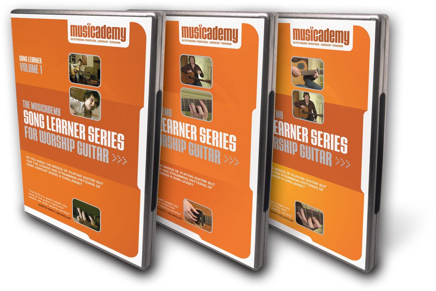Song Learner Guitar Combo 3 Dvds