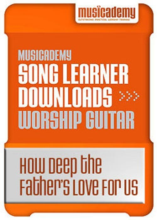 How Deep the Father\'s Love For Us Guitar chords & video online lesson
