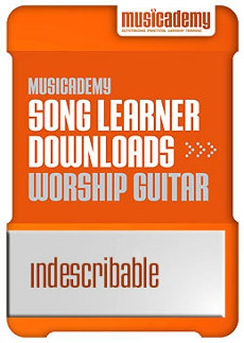 Indescribable Guitar chords & video online lesson
