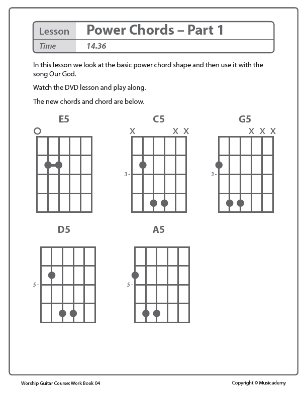 Beginning Worship Guitar Workbook Songbooks Volumes 1-4 - Beginner ...