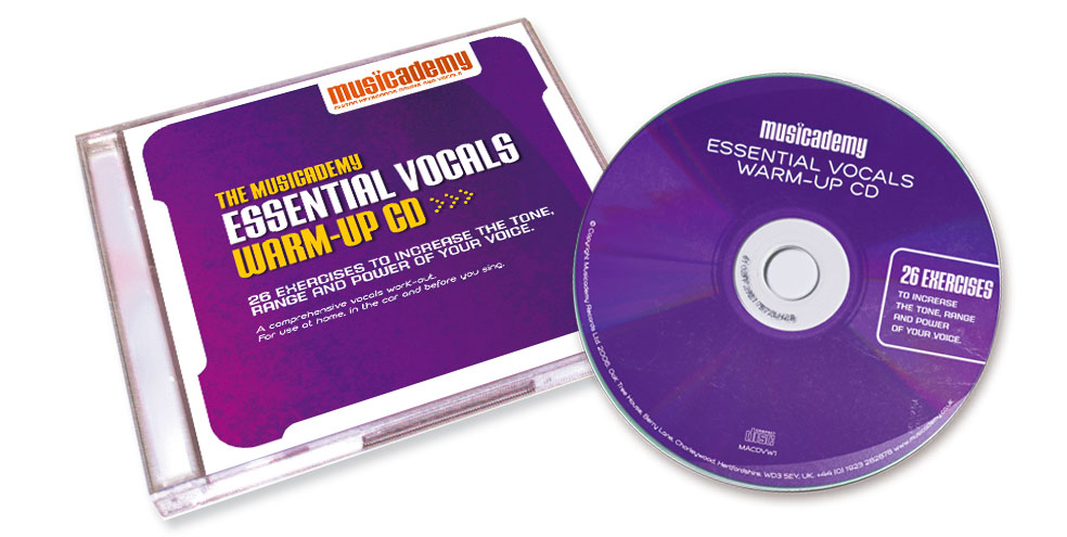Musicademy vocals warm up CD