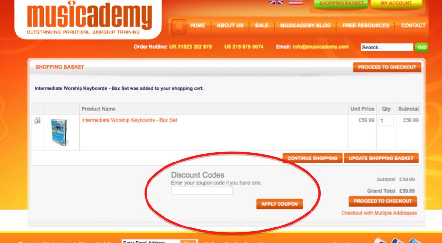 Musicademy Discount Code