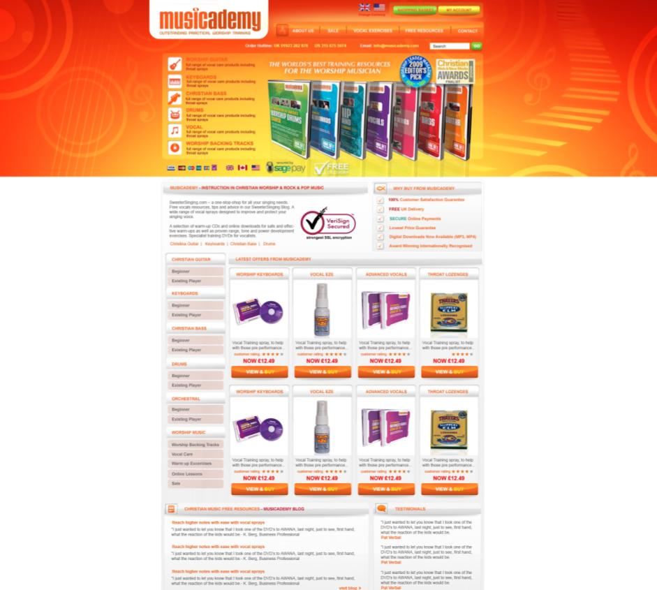 Musicademy-webstore-design