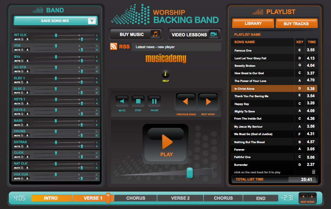A Sneak Preview Of The New Multitrack Backing Track Player