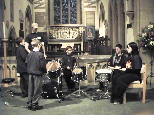 Drum-lesson-in-church