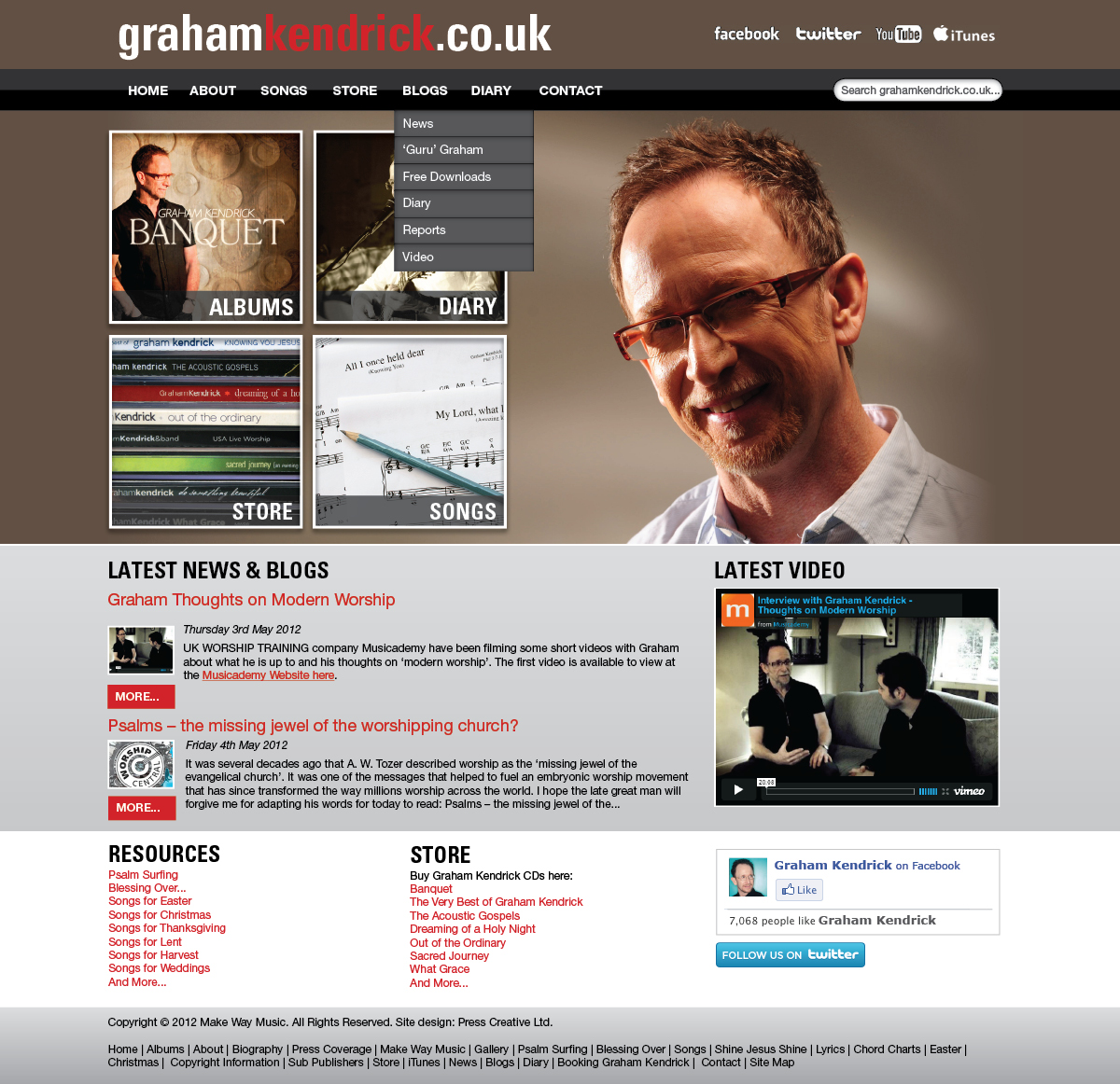 What do you think of Graham Kendrick\'s new website designs?
